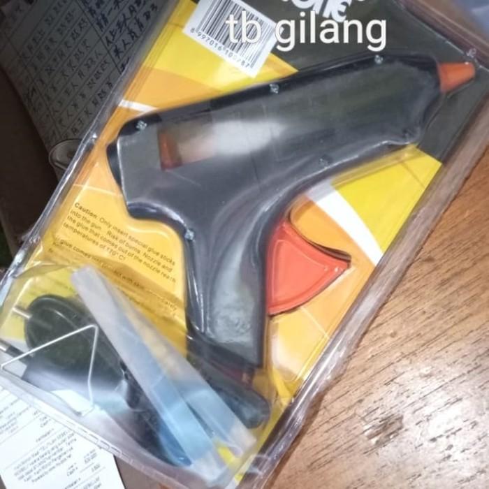 Tembakan lem bakar panas lumer btg besar hot melt glue gun listrik 60W