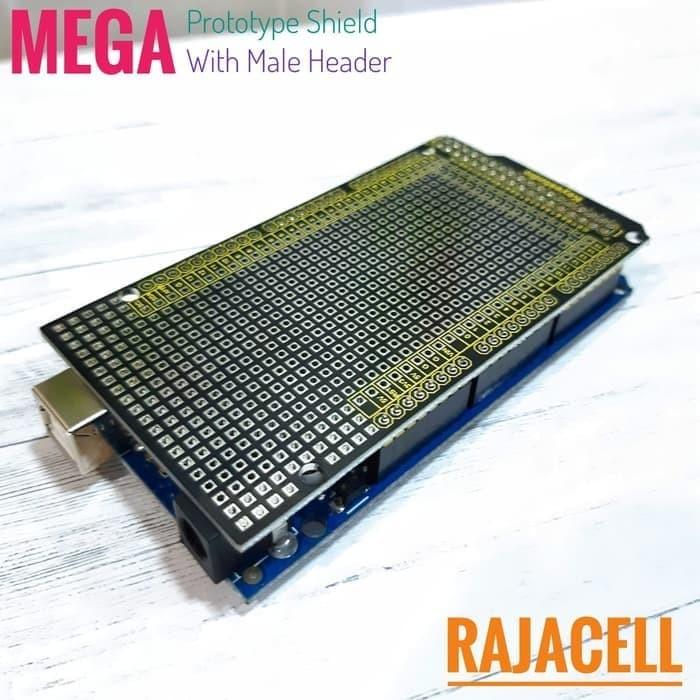 Foto Produk Mega2560 PCB Prototype Shield Dual Layer Protoshield MALE Pin Header dari Arduino Official Store