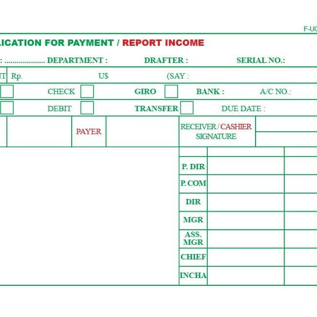 Jual Free Design Nota Surat Jalan Kas Bank Slip Gaji Invoice Dki Jakarta Fafa Print Tokopedia