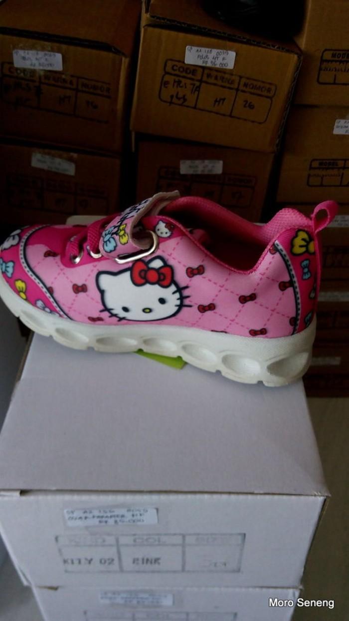 Jual Sepatu Anak Perempuan OSCAR 0059 Hello Kitty Pink 26 27 28 29 30 SMD Kota Surabaya Citraland Mall