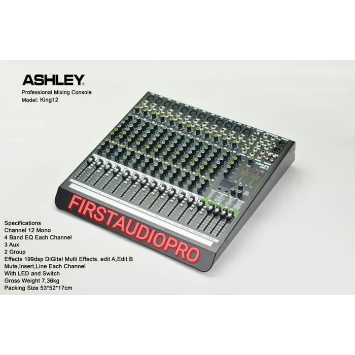 harga Mixer audio ashley king12 king 12 original Tokopedia.com