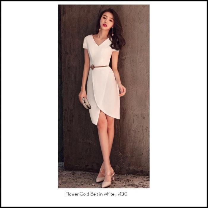 Jual Premium Mini Dress Party Import Elegan Gaun Pesta Simple Lengan