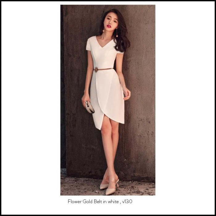 Jual Premium Mini Dress Party Import Elegan Gaun Pesta Simple Lengan Pendek Dki Jakarta Grosir Super One Tokopedia