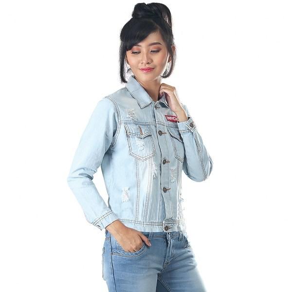 d610fc82ee9 Jual PROMO Jaket jeans wanita branded inficlo Trendy STT 174 - Kota Bandung  - Konveksi Tas Jaket YF | Tokopedia
