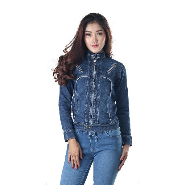 a054bf01e8c Jual PROMO Jaket jeans wanita branded inficlo Trendy SPI 130 - Kota Bandung  - Konveksi Tas Jaket YF | Tokopedia