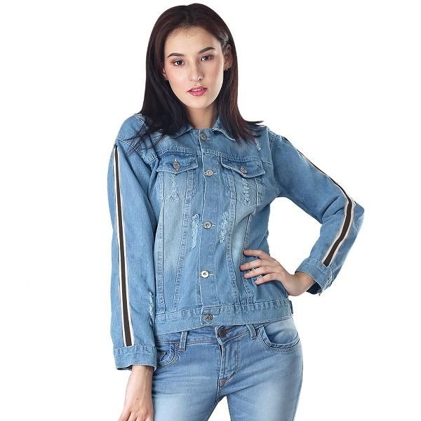 16868b7d24f Jual PROMO Jaket jeans wanita branded inficlo Trendy SIP 718 - Kota Bandung  - Konveksi Tas Jaket YF | Tokopedia