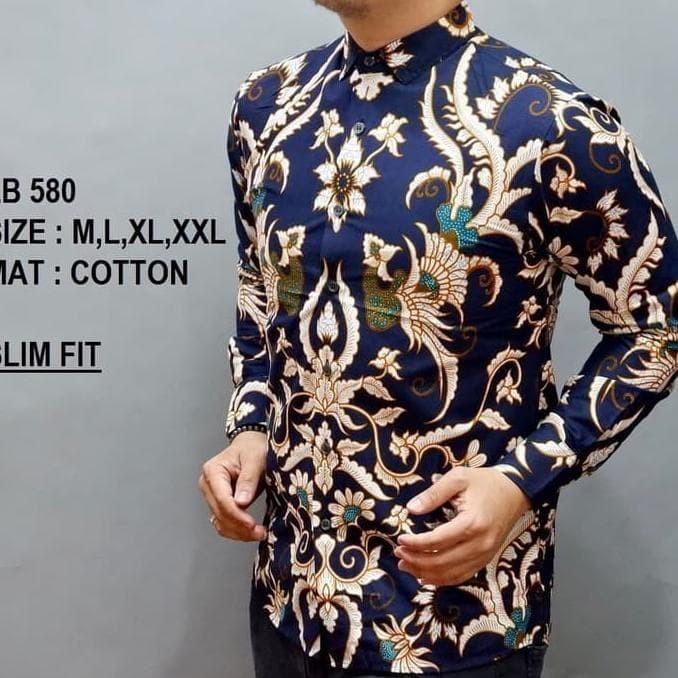 Jual Dijual Baju Kemeja Batik Slim Fit Pria Lengan Panjang Kualitas ... 1b53e088b9