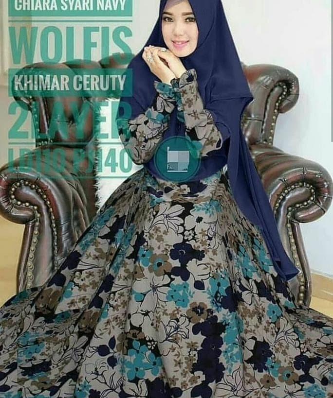 ad0f1f68ad Jual Hot Promo Gamis Monalisa / Dress Motif #132 / Hijab Syari Baju - basri  rizal shop | Tokopedia
