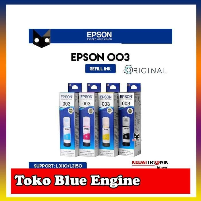 Jual Tinta Printer EPSON 003 ORIGINAL L3110 L3150 Refill Ink Asli Segel oo3  - DKI Jakarta - Toko Blue Engine | Tokopedia