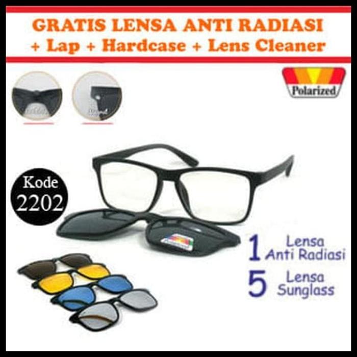 Frame Kacamata Baca Minus Anti Radiasi Komputer Clip On 5 Lensa ... 330469d752