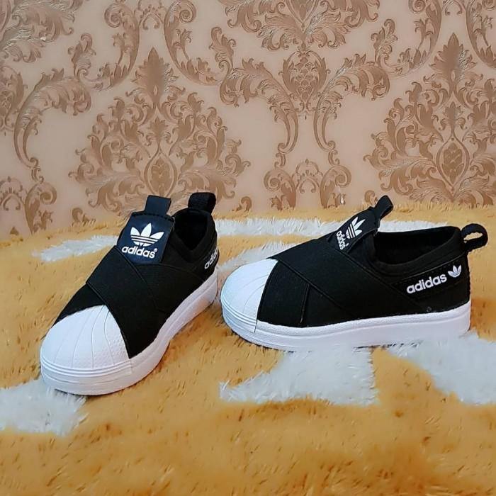 huge discount 23516 e0a04 Jual Sepatu Anak Adidas Superstar Slip On Kids Black White Murah - DKI  Jakarta - fadilstorejkt   Tokopedia