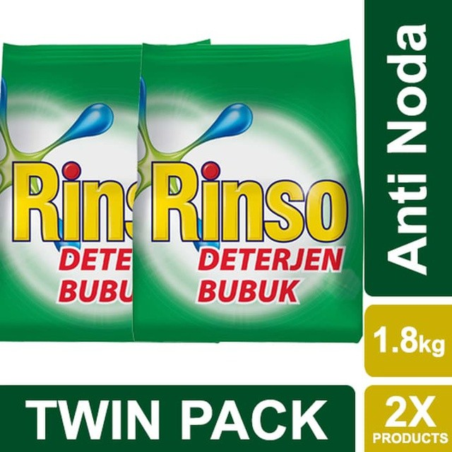 Rinso Deterjen Bubuk Anti Noda 18Kg Twin Pack