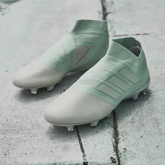8fb87a2d0906 Jual Sepatu Bola adidas Nemeziz 18+ FG - Ash Silver Ash Silver White ...