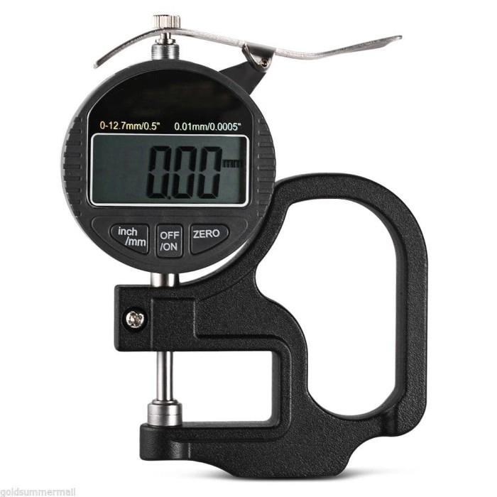 Foto Produk Thickness Gauge Digital Ukur Ketebalan Plastik Kertas Logam Micrometer dari HRDIK