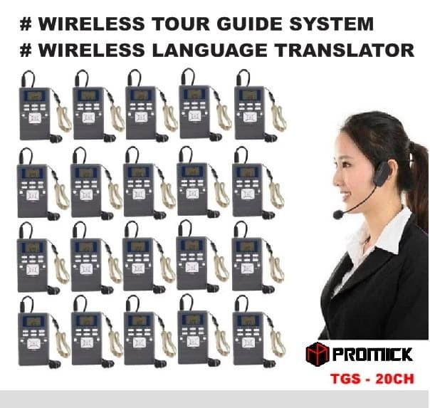 Foto Produk Wireless Tour Guide System - Translator System - 1 Transmitter &20 RX dari EtalaseBelanja
