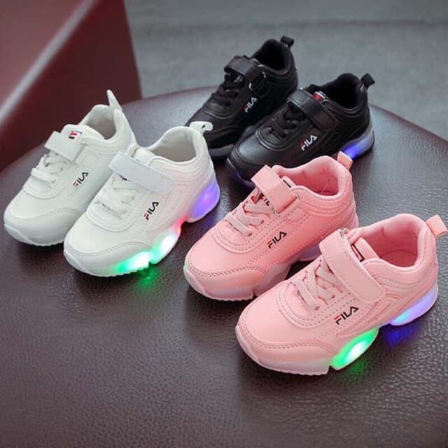 0edab5a8 (26-30) LED FILA Disruptor / Sepatu Sneakers Anak Sekolah