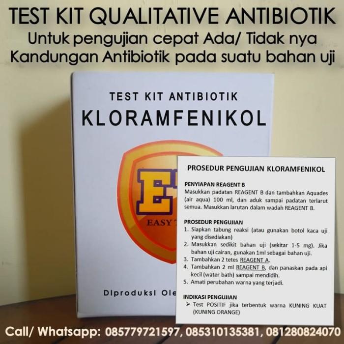 Foto Produk Test Kit KL0RAMFEN1KOL Antibiotic - Teskit Antibiotik utk Tes Pangan dari Sooper Shop