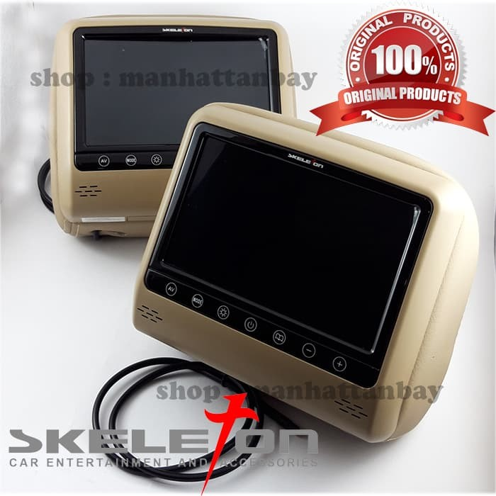 harga Car headrest monitor - monitor led 7 inch - skeleton skt-721pl Tokopedia.com