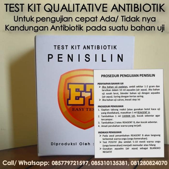 Foto Produk Test Kit Penisilin - Antibiotic Test Kit - Teskit utk Tes Antibiotik dari ERDUA Business