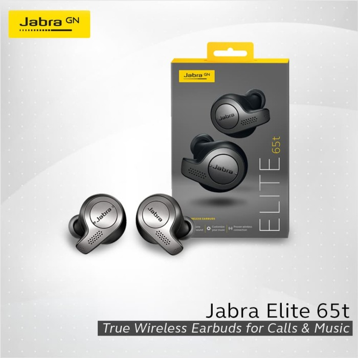 harga Jabra elite 65t wireless headset bluetooth - copper black - perak Tokopedia.com