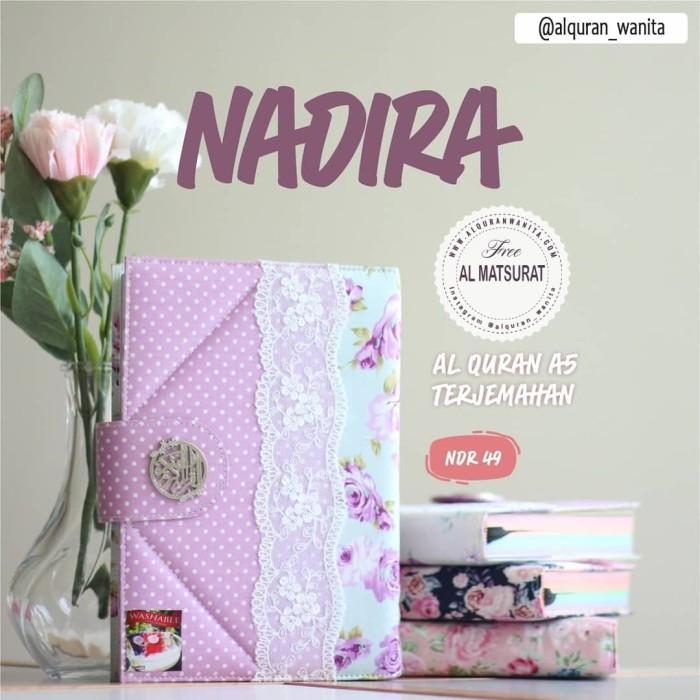 Foto Produk Quran Pelangi Ukuran Besar Sampul Ungu Polkadot Madina Nadira dari Souvenir Al Quran
