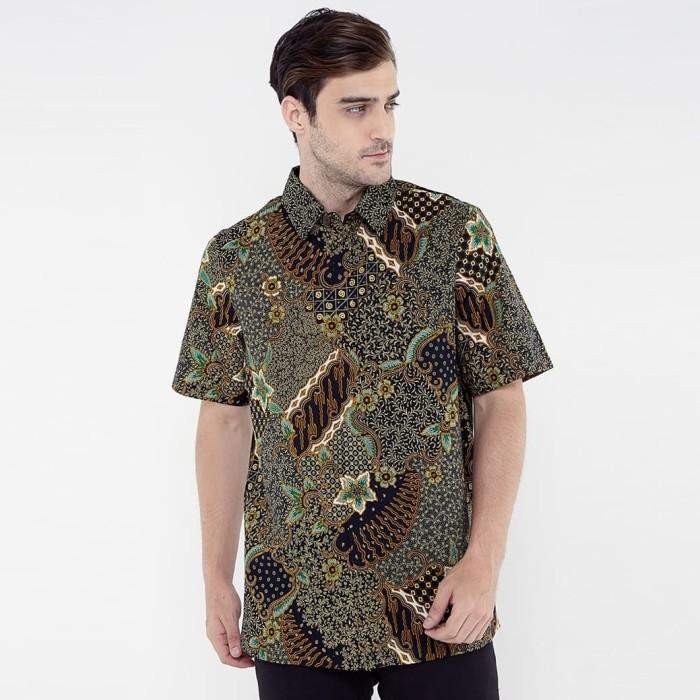 Jual Kemeja Batik Pria Lengan Pendek Bahan 100 Katun Hijau Tosca L Kota Tangerang Selatan Dapur Kansa Tokopedia