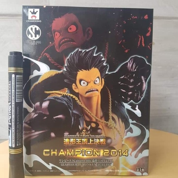 Banpresto One Piece SCultures Figure Colosseum Champion 2014 Gear Fourth Luffy