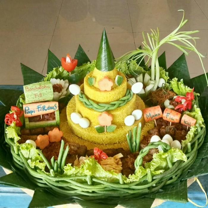 Jual Tumpeng Nasi Kuning Dan Nasi Gurih Nasi Tumpeng Medan Kota Medan Warung Sawarga Tokopedia