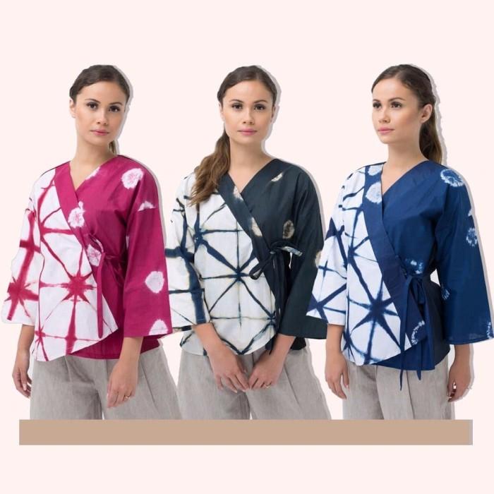 Jual Model Baru Blouse Atasan Batik Wanita Kimono Kab Bandung Putri Baahirah Tokopedia