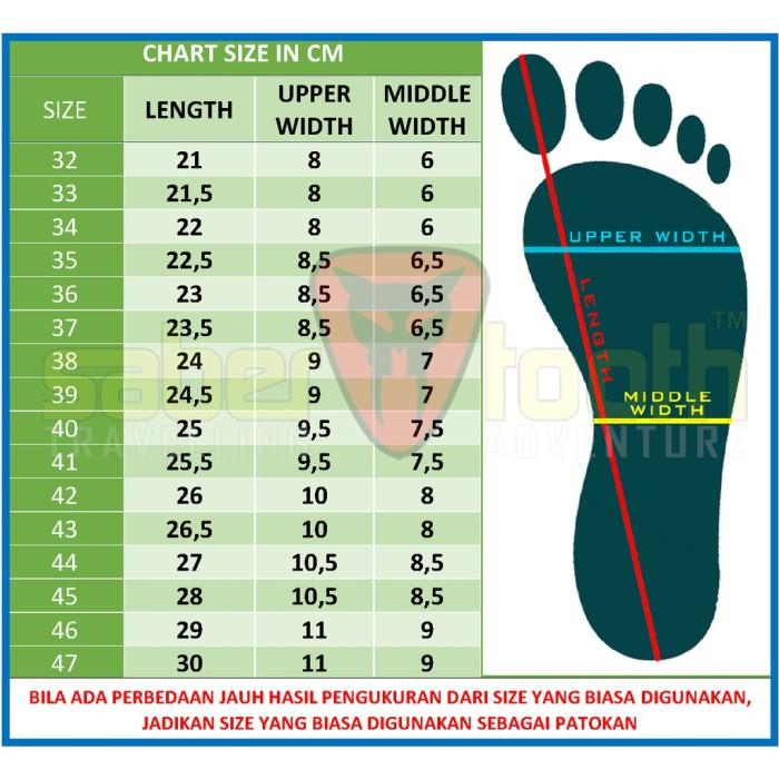 SABERTOOTH Sandal Gunung Traventure Terra Thunderbolt size 38 s d 47