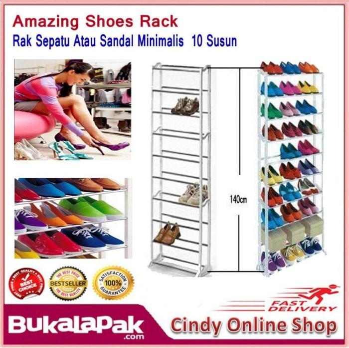 Best Amazing Shoes Rack / Rak Sepatu Atau Sandal Minimalis 10 Susun