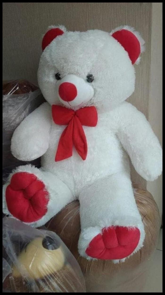 STOK TERBATAS Termurah Boneka Beruang Teddy Bear Putih Merah 75cm. Toko  dalam status moderasi d5c7225fe6