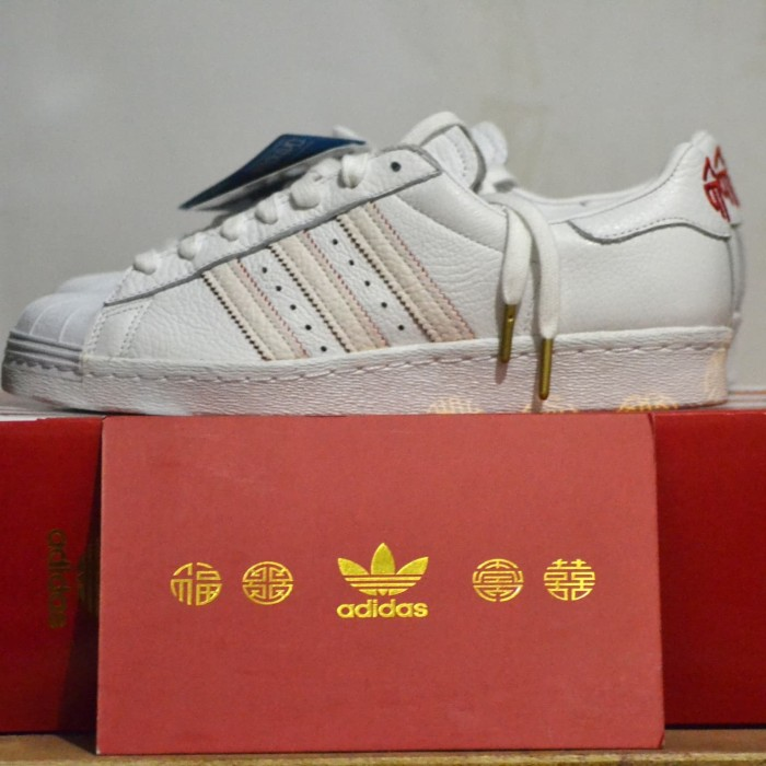 best service dfdb1 f57f5 Jual adidas superstar 80s chinese new year CNY 2018 white original - , -  Kab. Sleman - jac group | Tokopedia