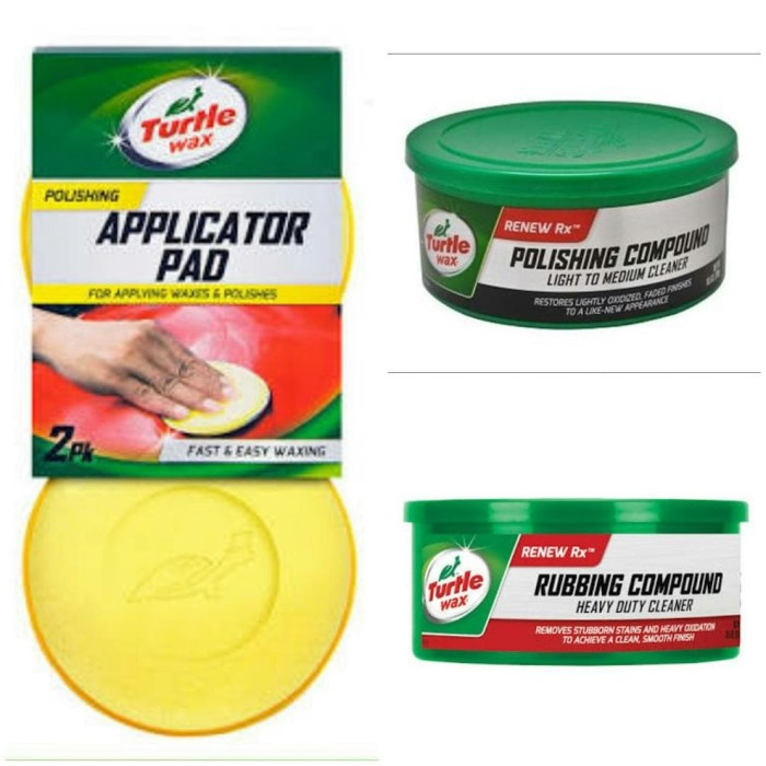 TURTLE WAX BUNDLE RUBBING - POLISHING COMPOUND & APPLICATOR PAD
