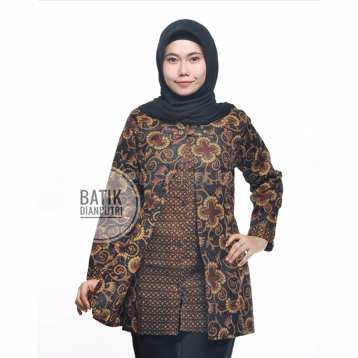 Jual Baju Batik Cewek Murah Atasan Batik Wanita Model Cardigan Lengan Panj Dki Jakarta Elisa Holic Tokopedia