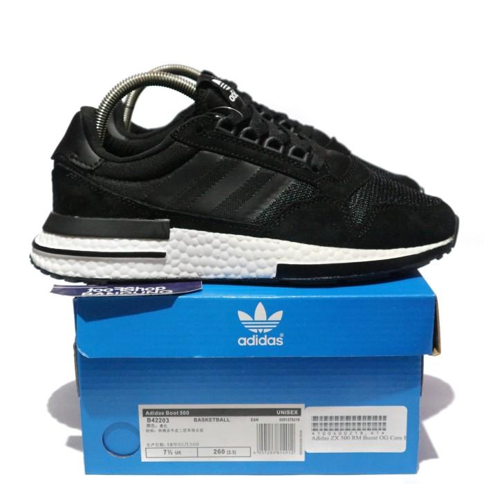 67b94f56f Jual Adidas ZX 500 RM Boost OG Black and White Premium BNIB ...