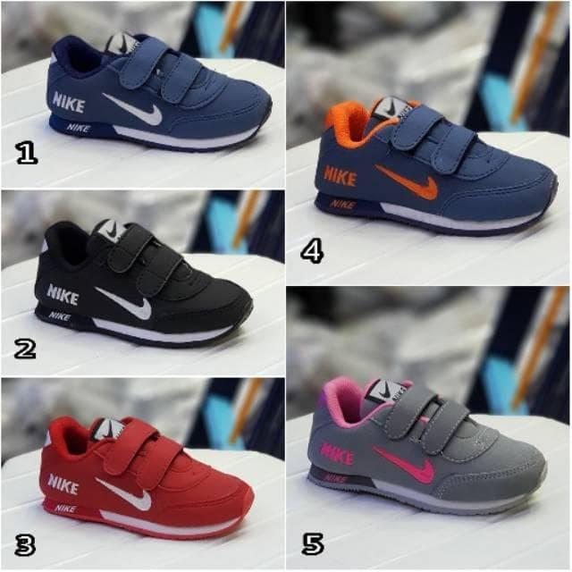 Jual Sepatu Anak Nike Neo Kids Sepatu Anak Velcwo Sekolah Hitam ... d66d40039c