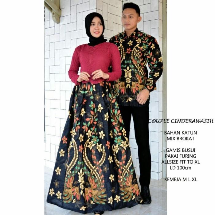 Jual Sarimbit Batik Batik Couple Baju Gamis Batik Terbaru Kekinian Hijau Tosca Kota Pekalongan Batik Putra Brawijaya Tokopedia