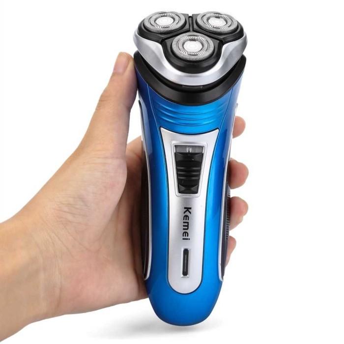 Jual Kemei Alat Cukur Elektrik 3D Shaver Trimmer Razor - KM-2801 ... 7cc60f62fd