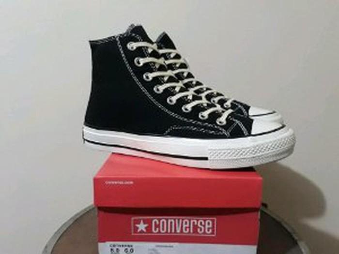 339297d56206e1 Jual Sepatu Converse All Star 70s HI Egret Black Premium Original ...