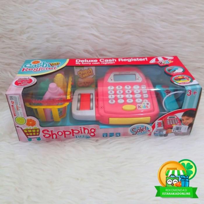 Jual Mainan Anak Kasir Kasiran Cash Register Shopping Pink B ... 219c83cd40