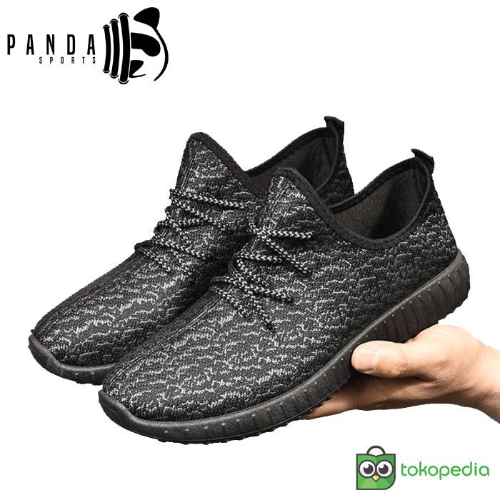 807988bb836 Jual Sepatu Yeezy New Korean Style IMPORT Unisex - HItam Putih