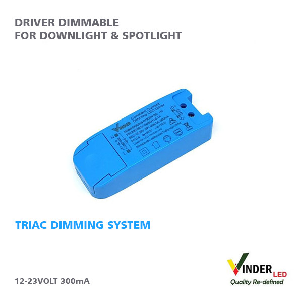 Jual Vinder Driver Dimmable TRIAC System Series 7W - Vinder Official Store  | Tokopedia