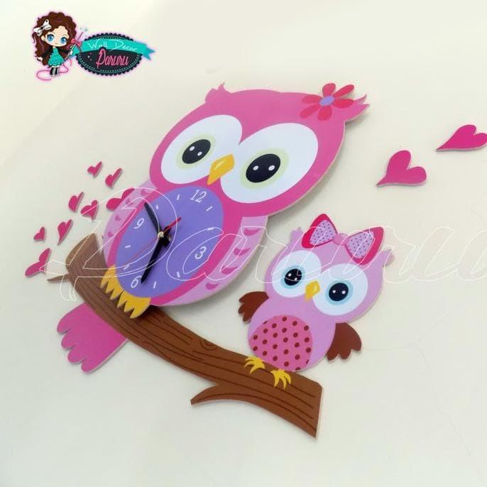 Jual Jam Dinding Unik Lucu Diy Wall Clock Kode Owl New Biai 7287d3afec