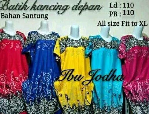 daster klok jodha baju tidur batik dress motif Bali New