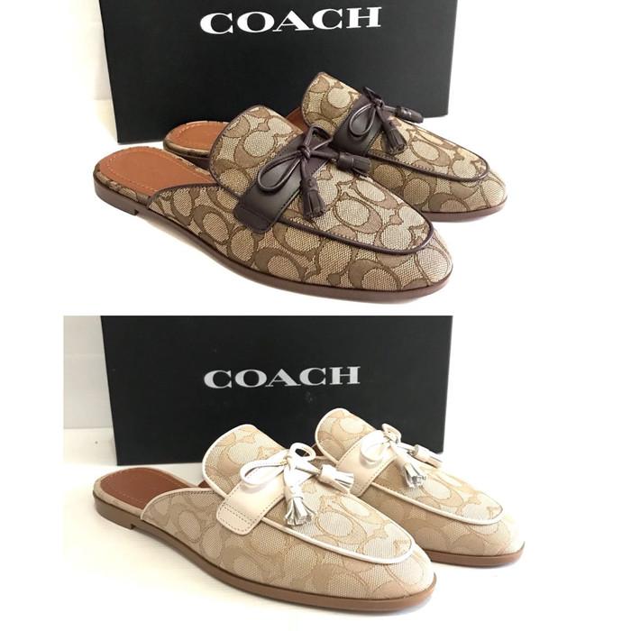 Jual Sepatu Coach Original Coach Stassi Mules Signature Sandal