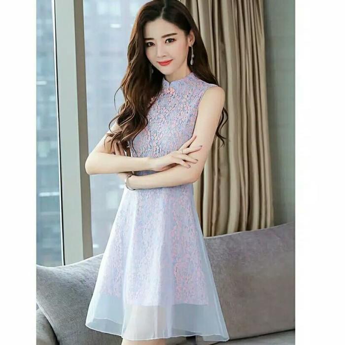 Jual Dress Mini Korea Gaun Pesta Lace Brokat A Line Sabrina Prom Night Kab Lebak Natasanshop Tokopedia
