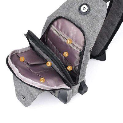 Tas Slempang Import Impor Slempang Selempang Sling Bag Kancing magnet