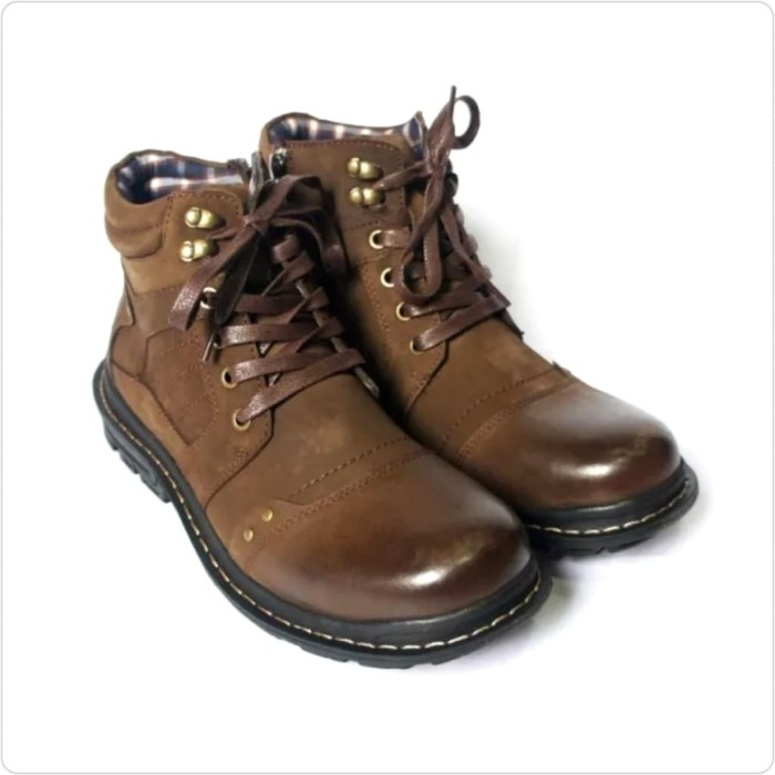 Sepatu Boots Pria Kulit Jim Joker Original JERUK 1B Coffee