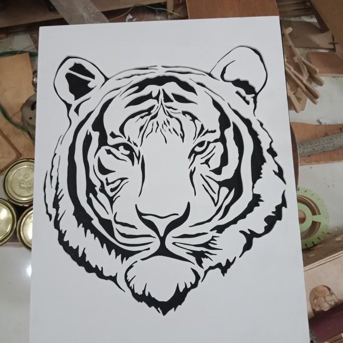Jual Hiasan Dinding Siluet Harimau Macan Putih Kab Bandung